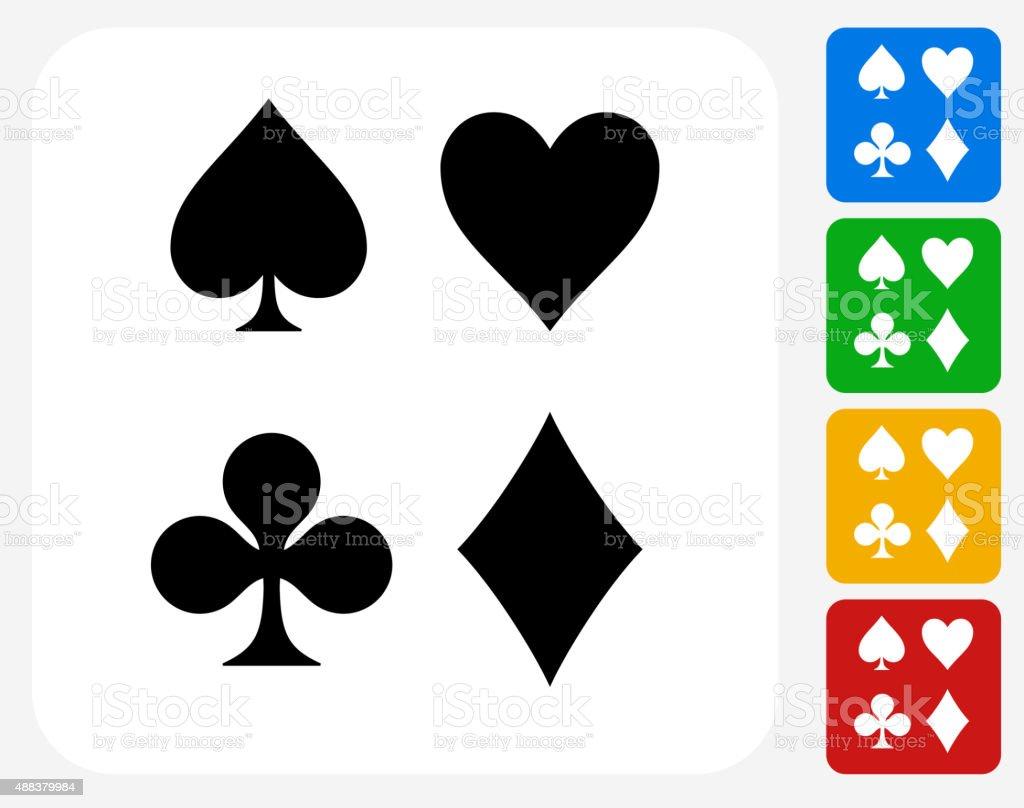 Card Symbols Set Icon Flat Graphic Design vector art illustration