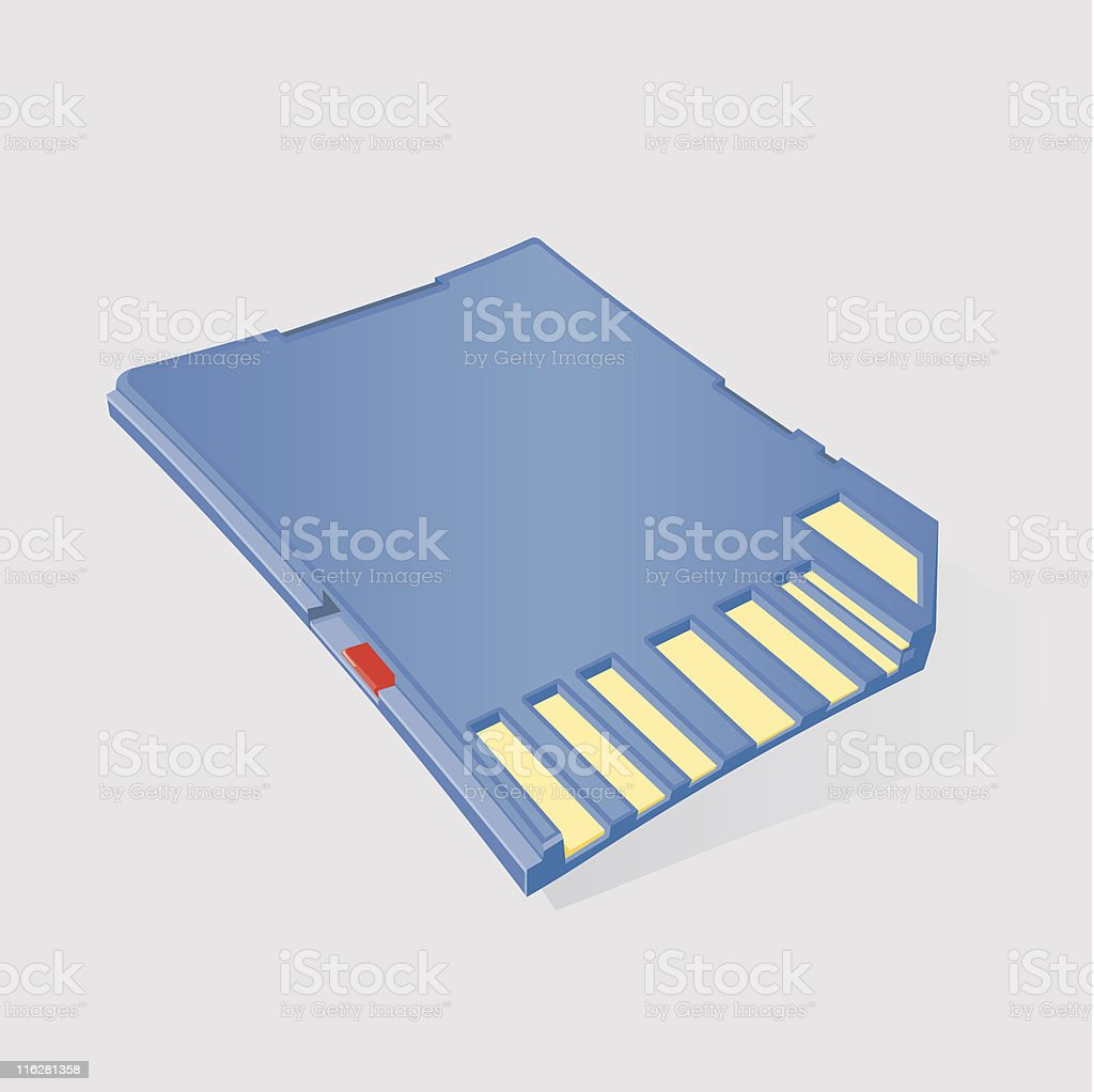 SD Card royalty-free stock vector art