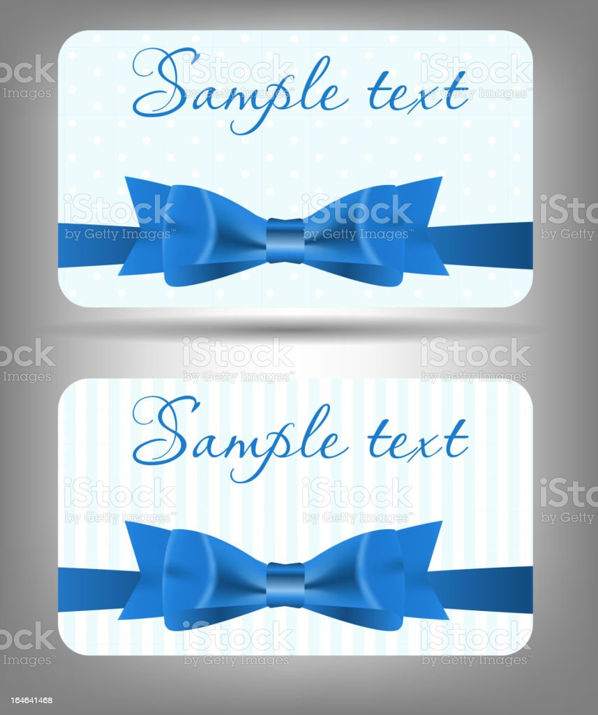 Card with bow and ribbon. Vector illustration royalty-free stock vector art