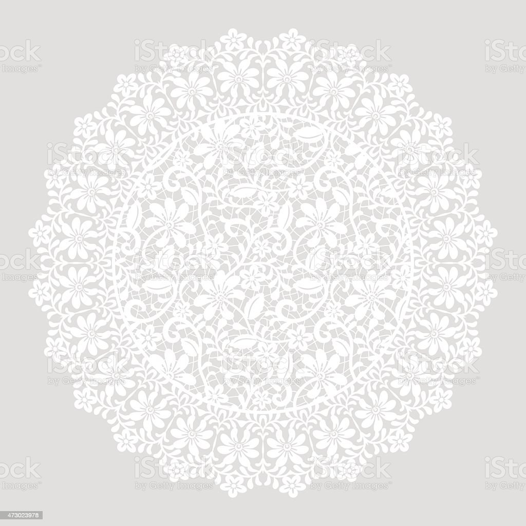 card with lace border vector art illustration