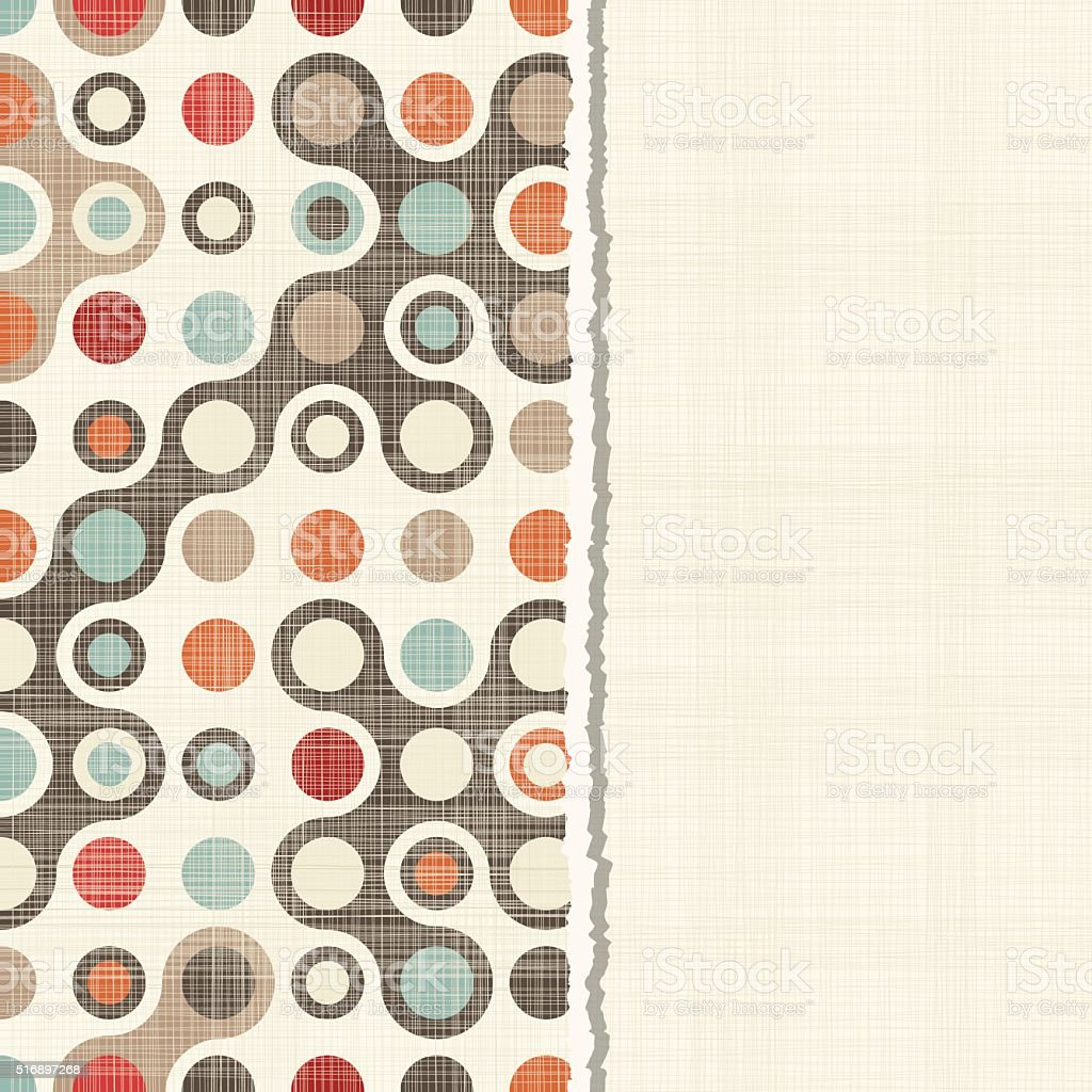 card with seamless colorful abstract pattern vector art illustration