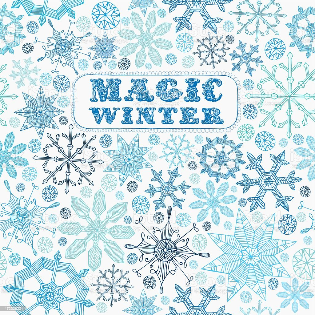 Card with Snowflakes. royalty-free stock vector art