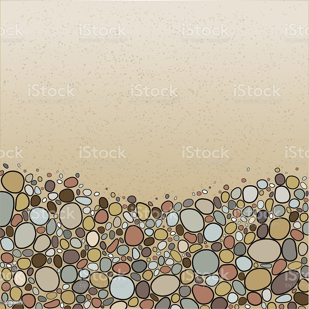Card with stones vector art illustration