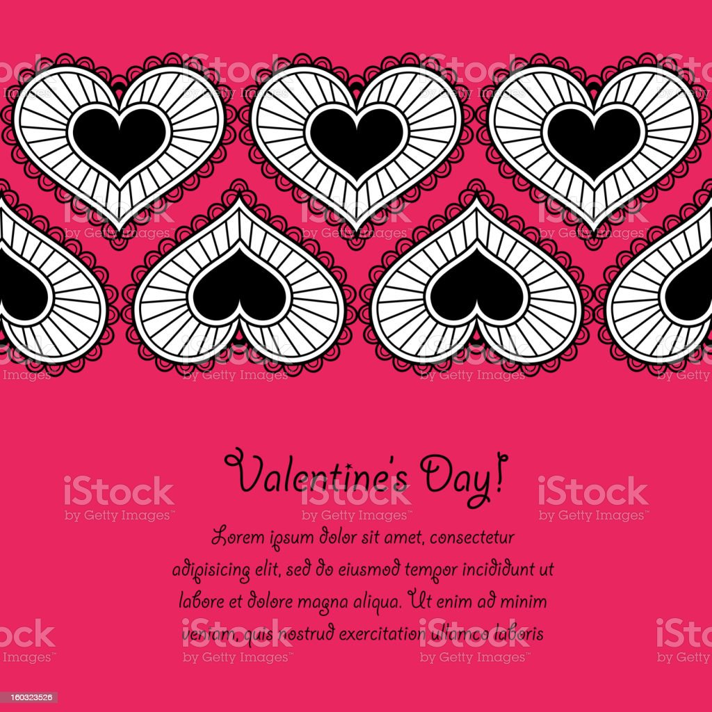 Card_Valentine's Day royalty-free stock vector art