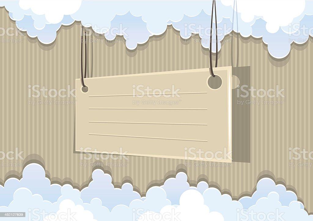 Cardboard background royalty-free stock vector art