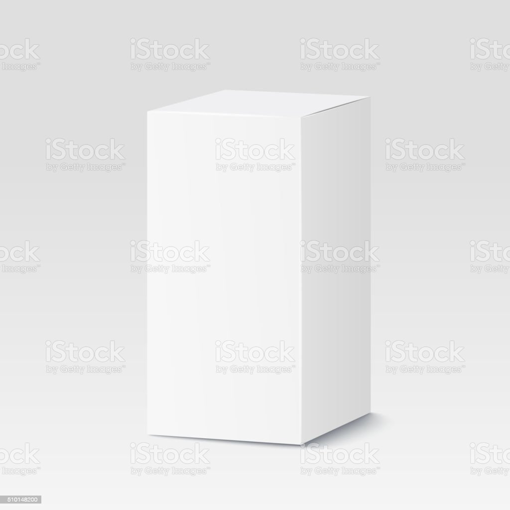 Cardboard box on white background. White container, packaging. Vector illustration vector art illustration