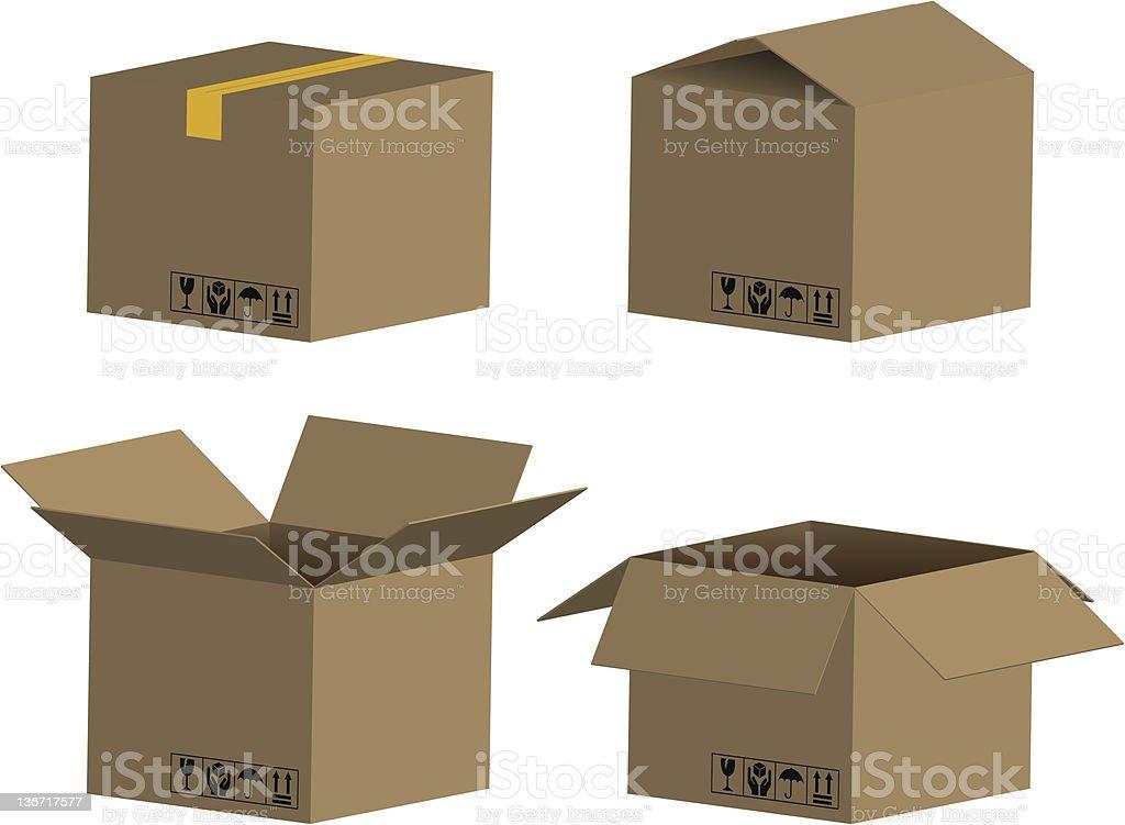 Caja de cartón y paquetes illustracion libre de derechos libre de derechos