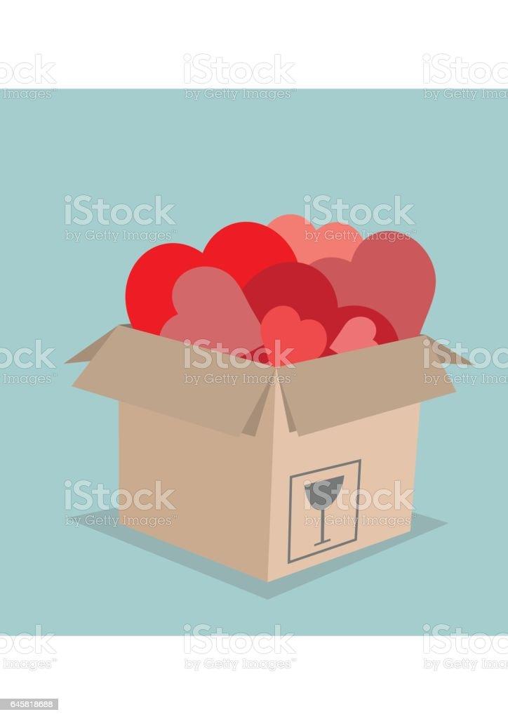 cardboard box vector art illustration