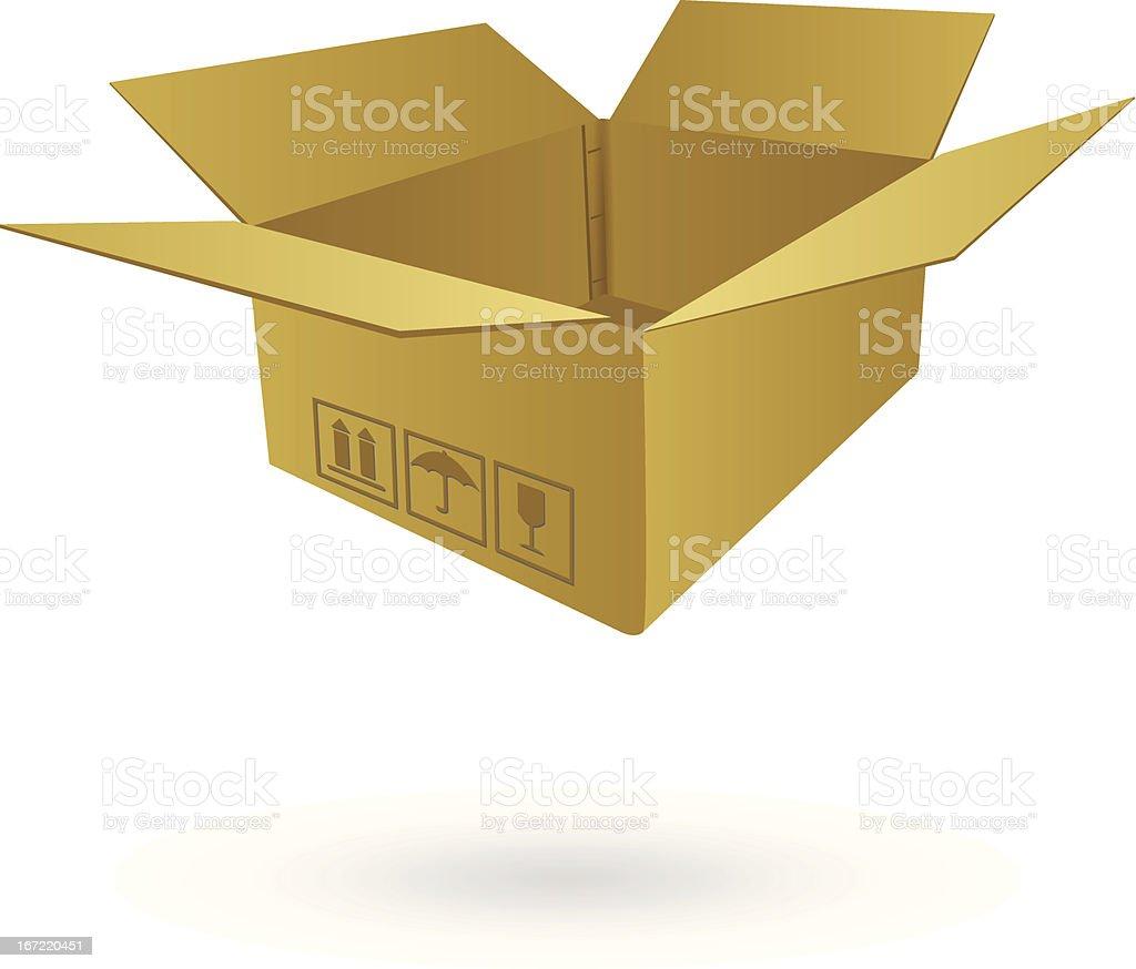 Cardboard Box Vector Illustration. royalty-free stock vector art
