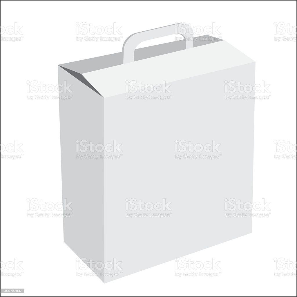 Cardboard box- vector vector art illustration