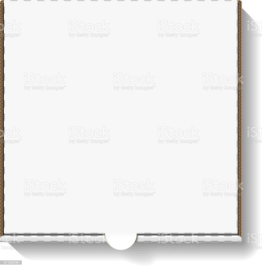 Cardboard pizza box for your design vector art illustration
