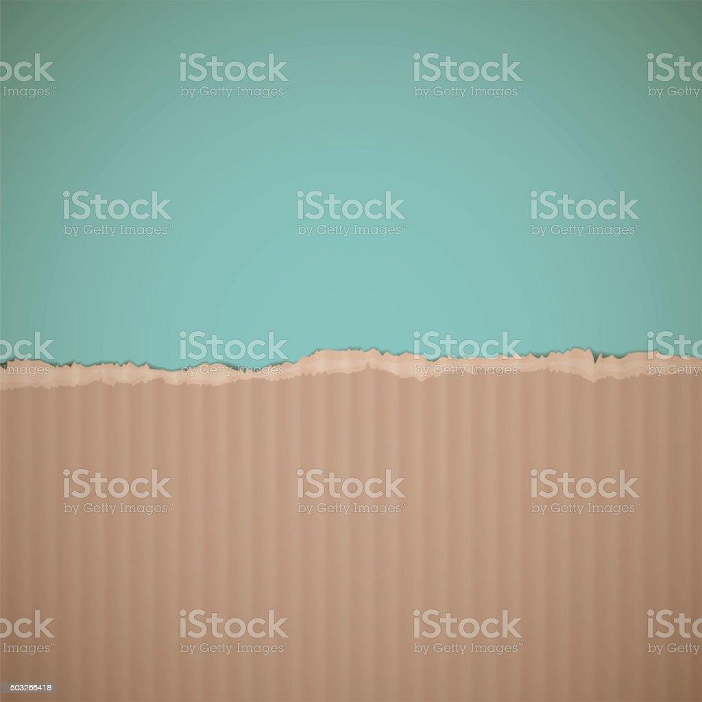 cardboard. Stock illustration. vector art illustration