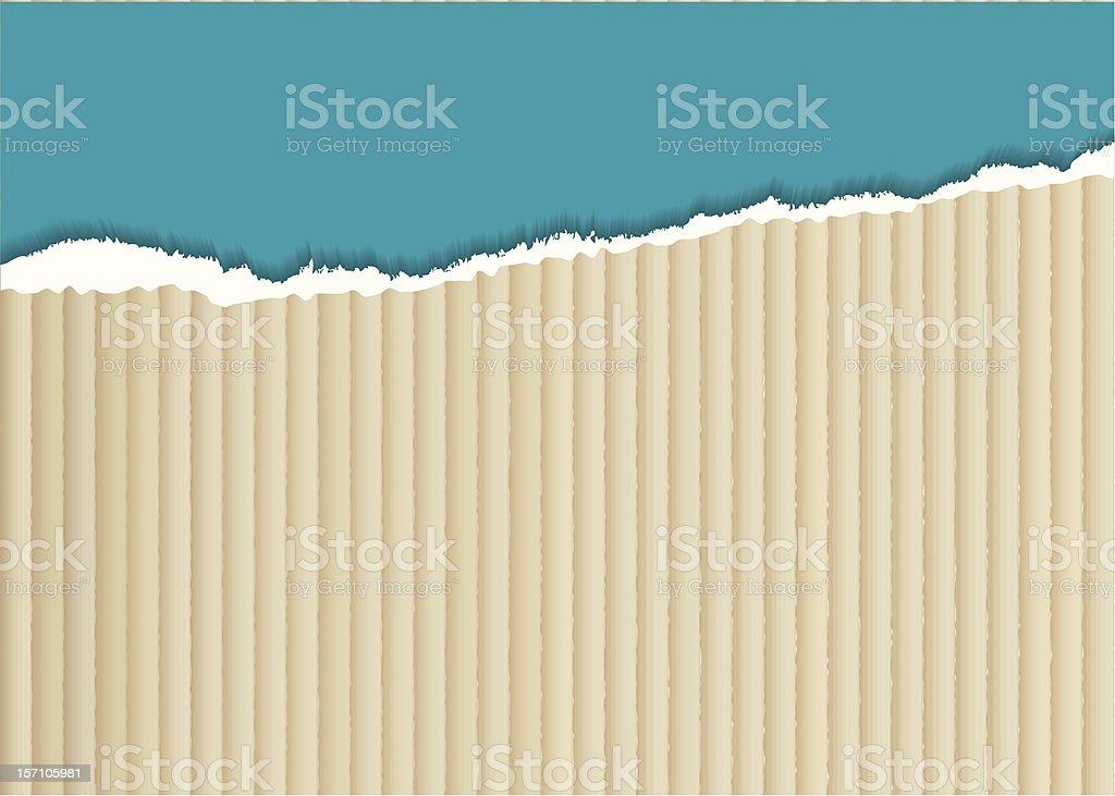 Cardboard torn edge royalty-free stock vector art