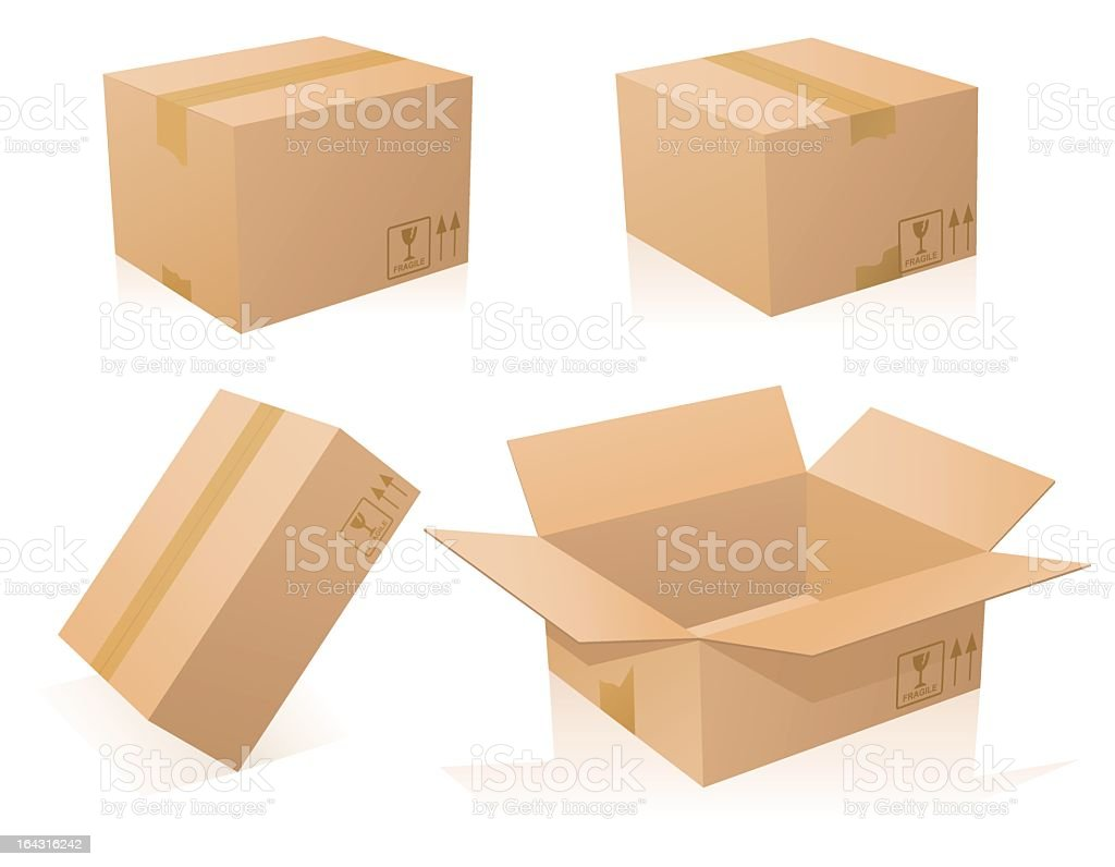 Cardboards boxes royalty-free stock vector art