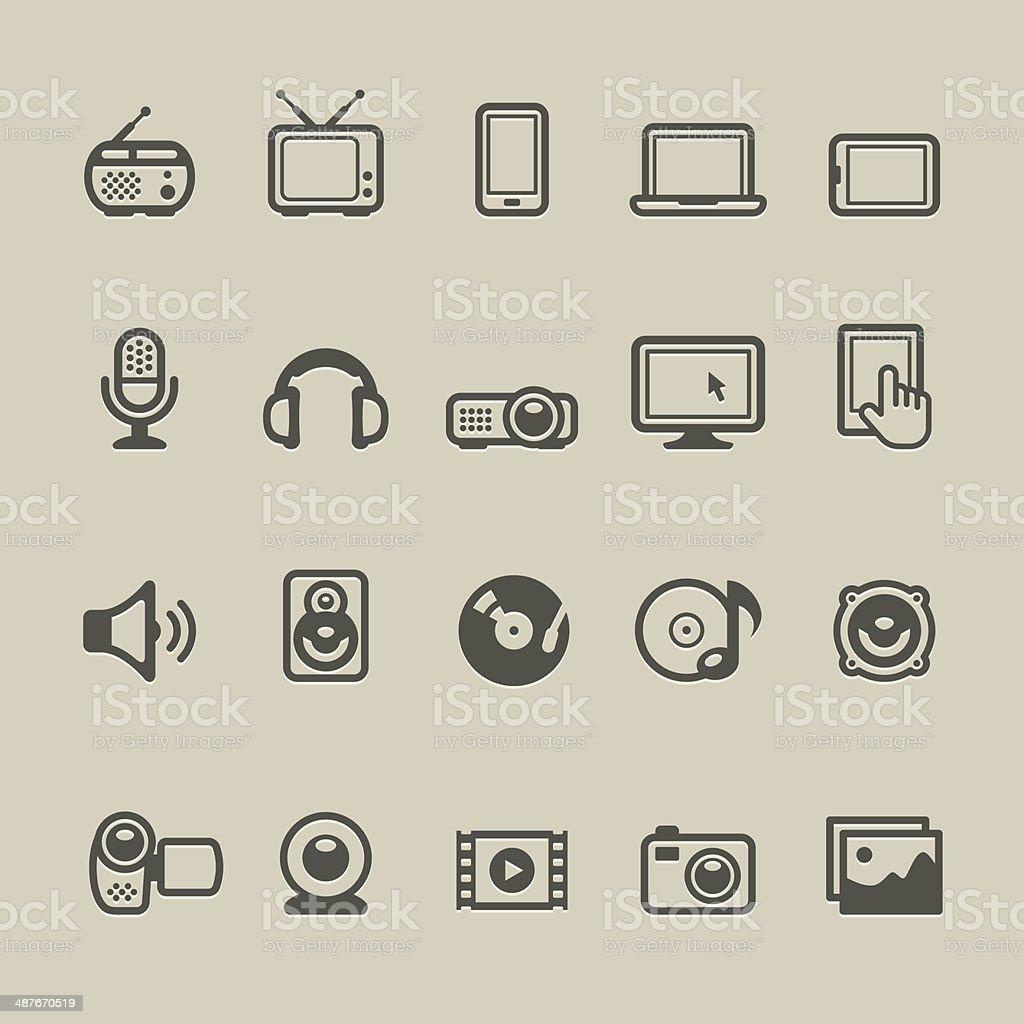 Cardico - Devices vector art illustration
