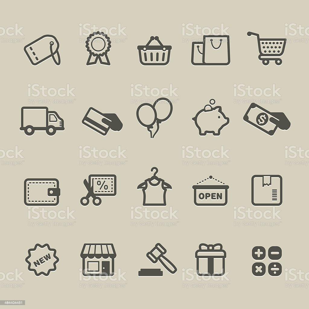 Cardico - Shopping vector art illustration