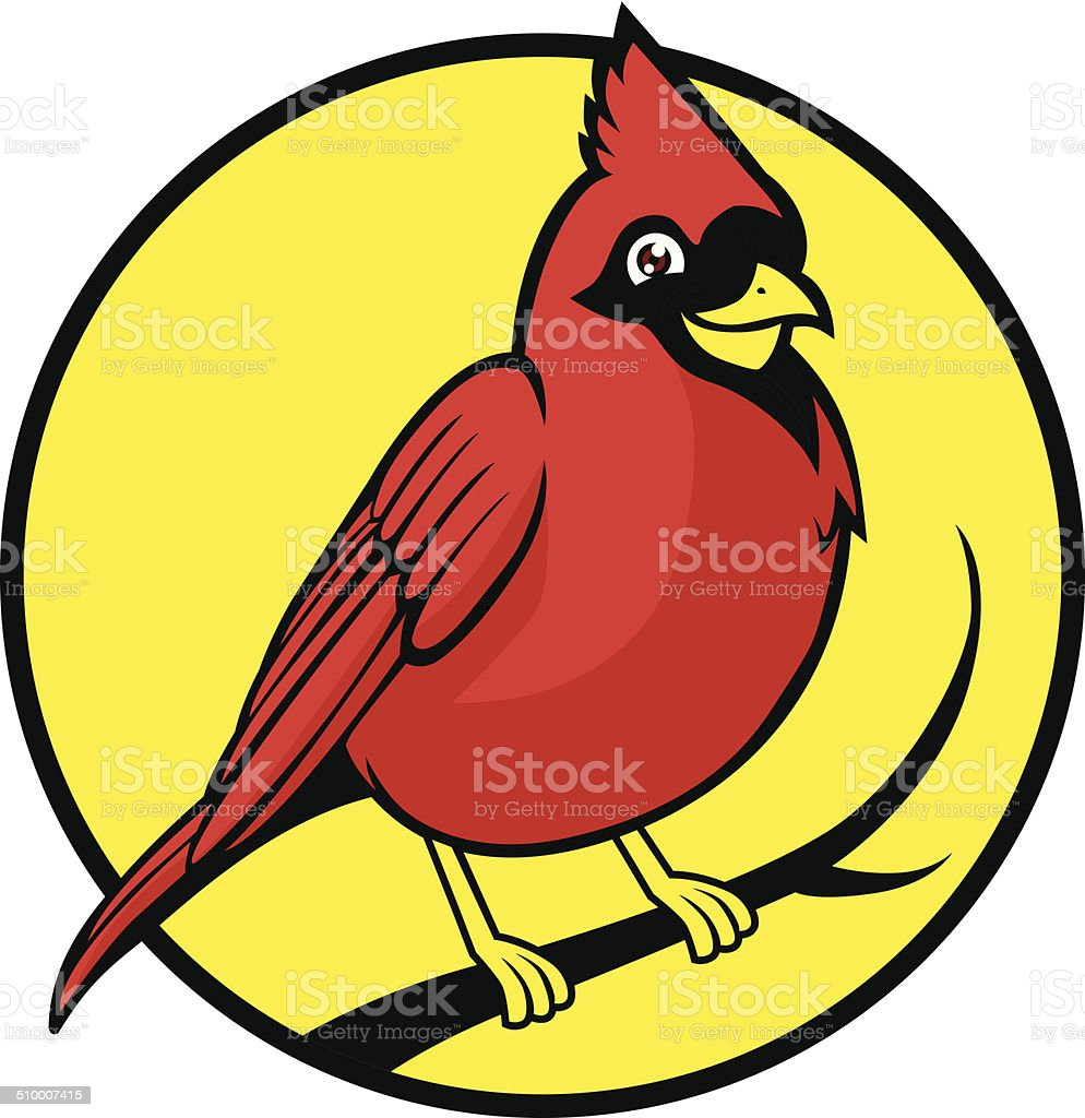 cardinal bird vector art illustration