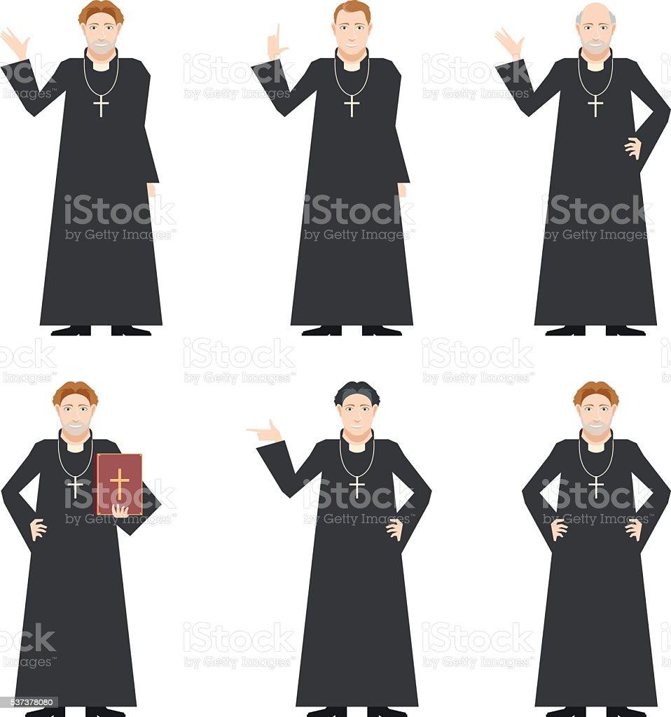 Cardinal - Catholic priest vector art illustration