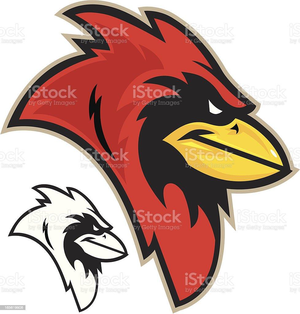 Cardinal Head royalty-free stock vector art