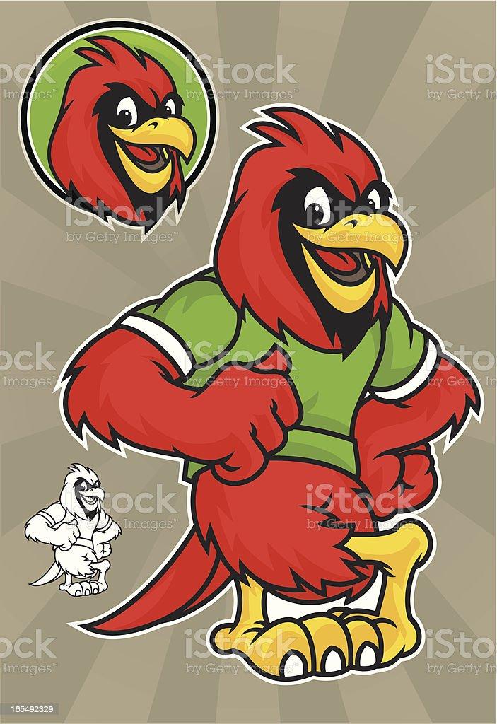 Cardinal Lean royalty-free stock vector art