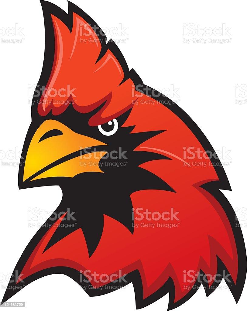 Cardinal Mascot royalty-free stock vector art