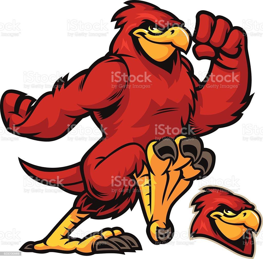 Cardinal running vector art illustration