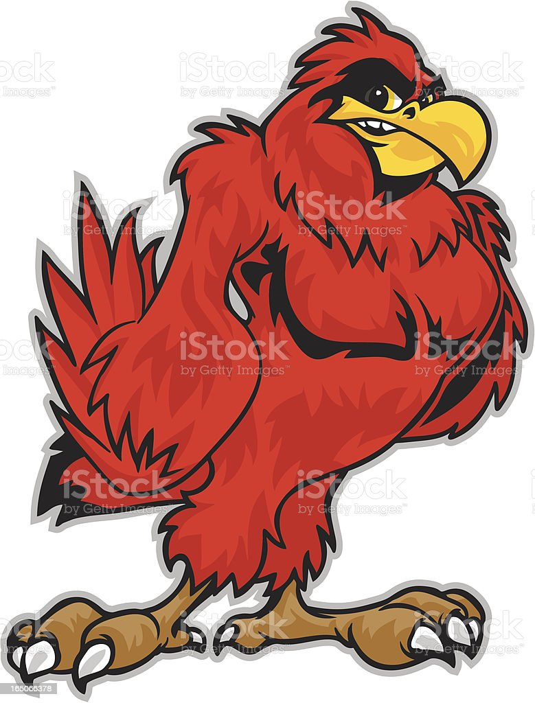 Cardinal Stance royalty-free stock vector art