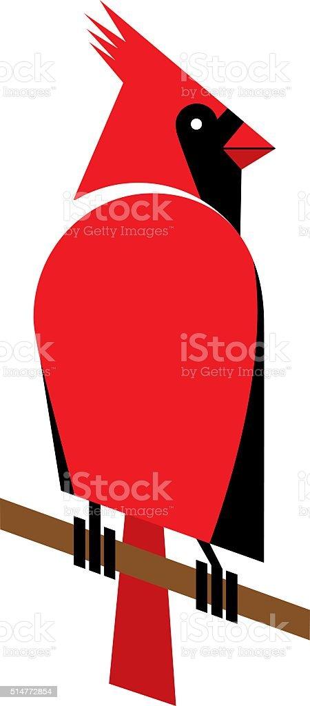 Cardinal vector art illustration