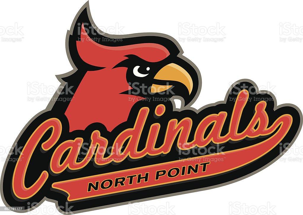 Cardinals Logo vector art illustration