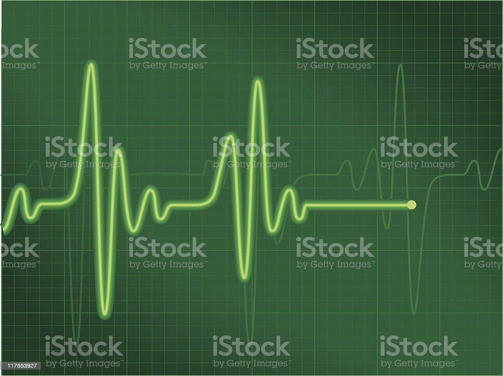 Cardiogram green royalty-free stock vector art