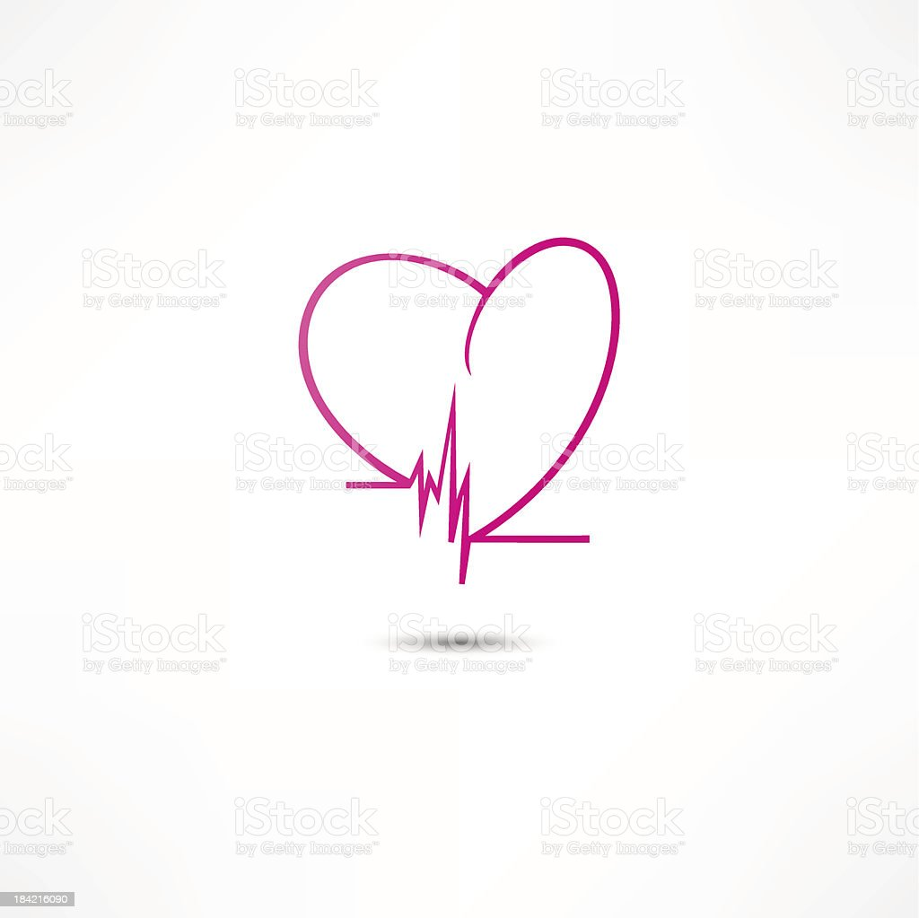 Cardiogram Icon royalty-free stock vector art