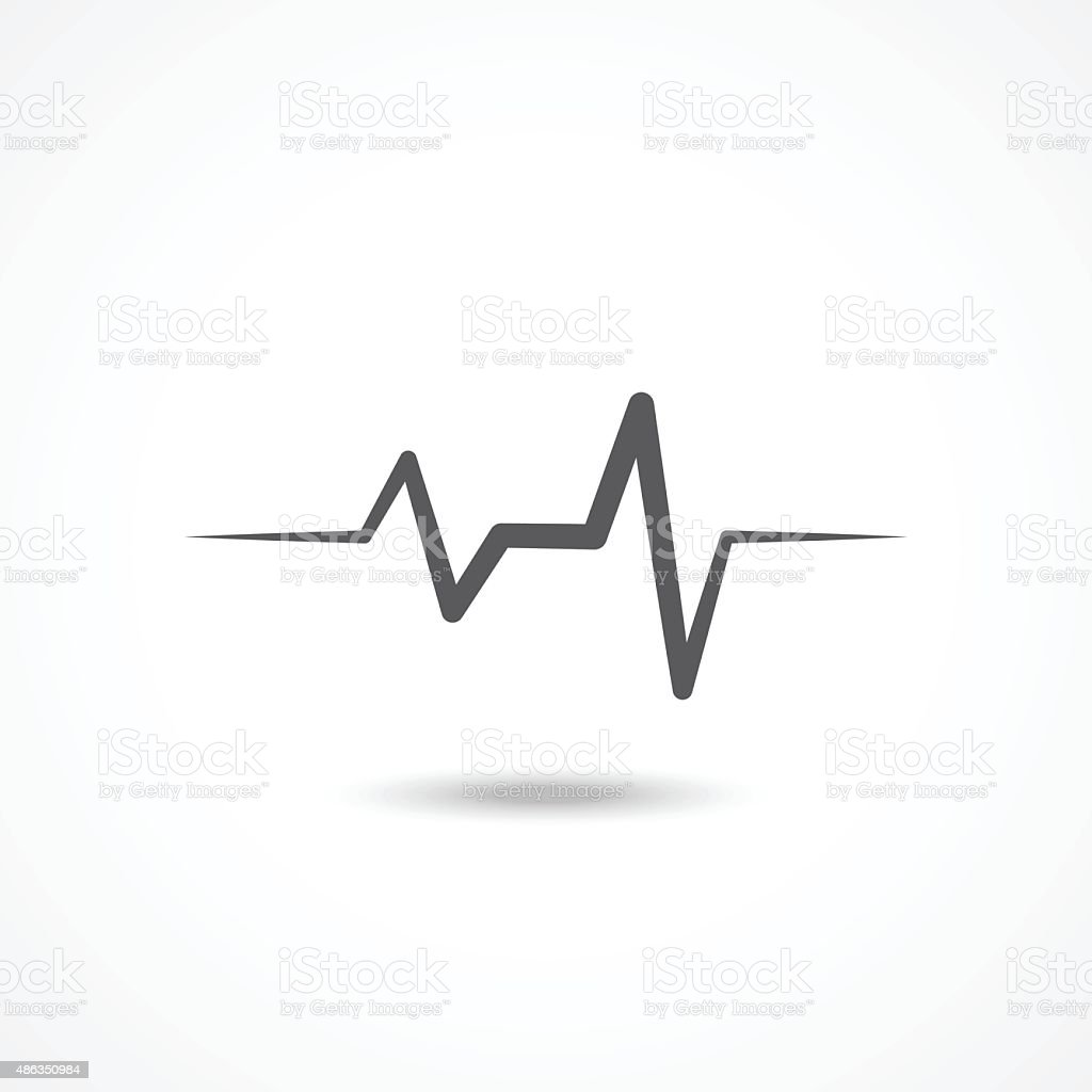 Cardiogram icon vector art illustration
