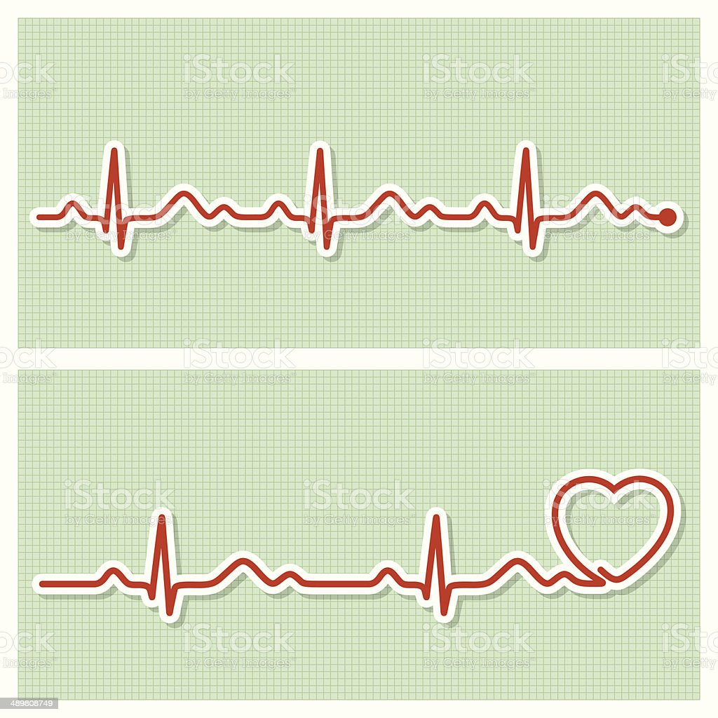 Cardiogram medical banners vector art illustration