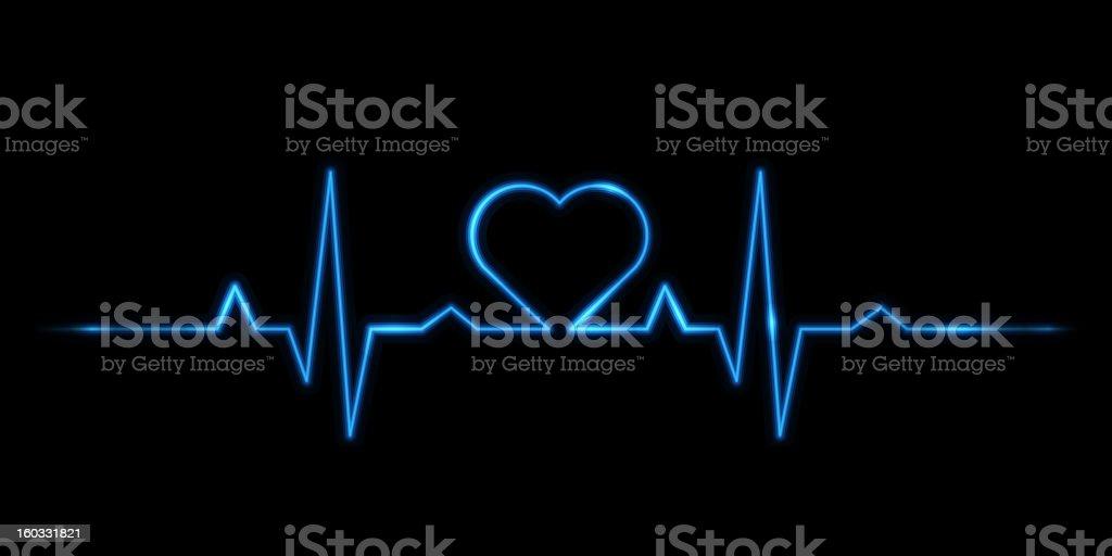 Cardiogram of love vector art illustration