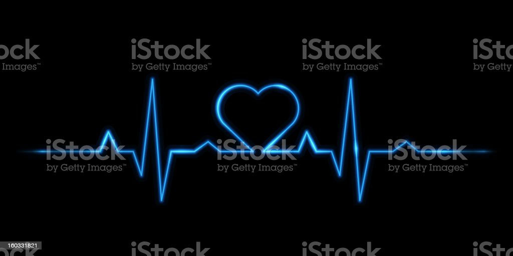 Cardiogram of love vector art illustration