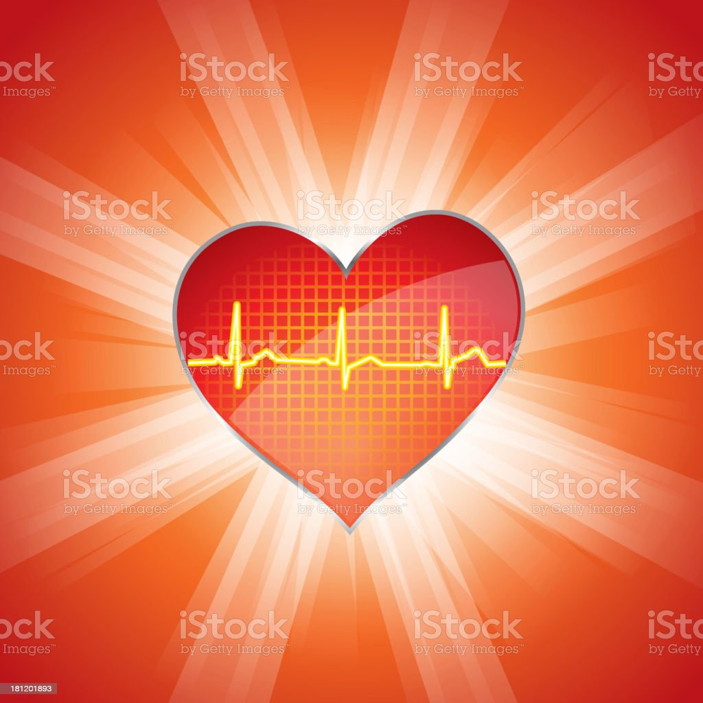 Cardiogram vector art illustration