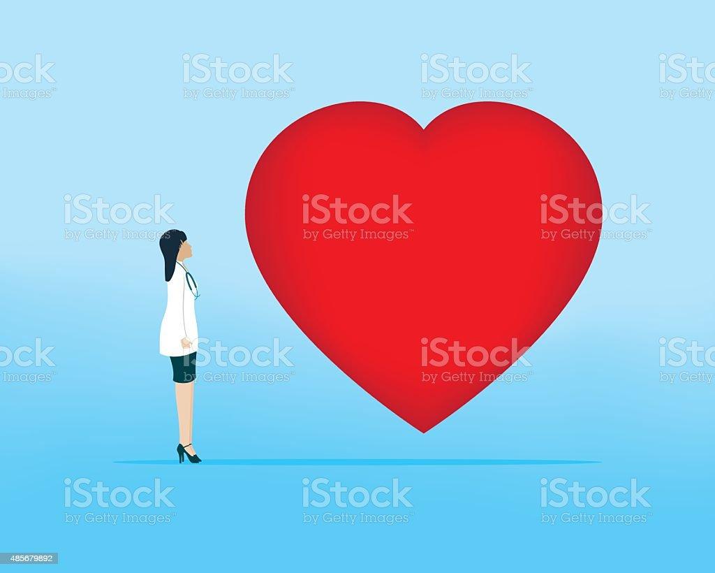 Cardiologist vector art illustration