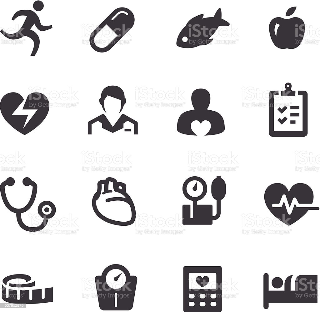 Cardiology Icons - Acme Series vector art illustration