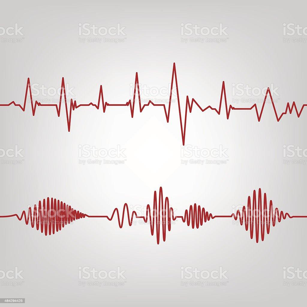 cardio-seamless vector art illustration