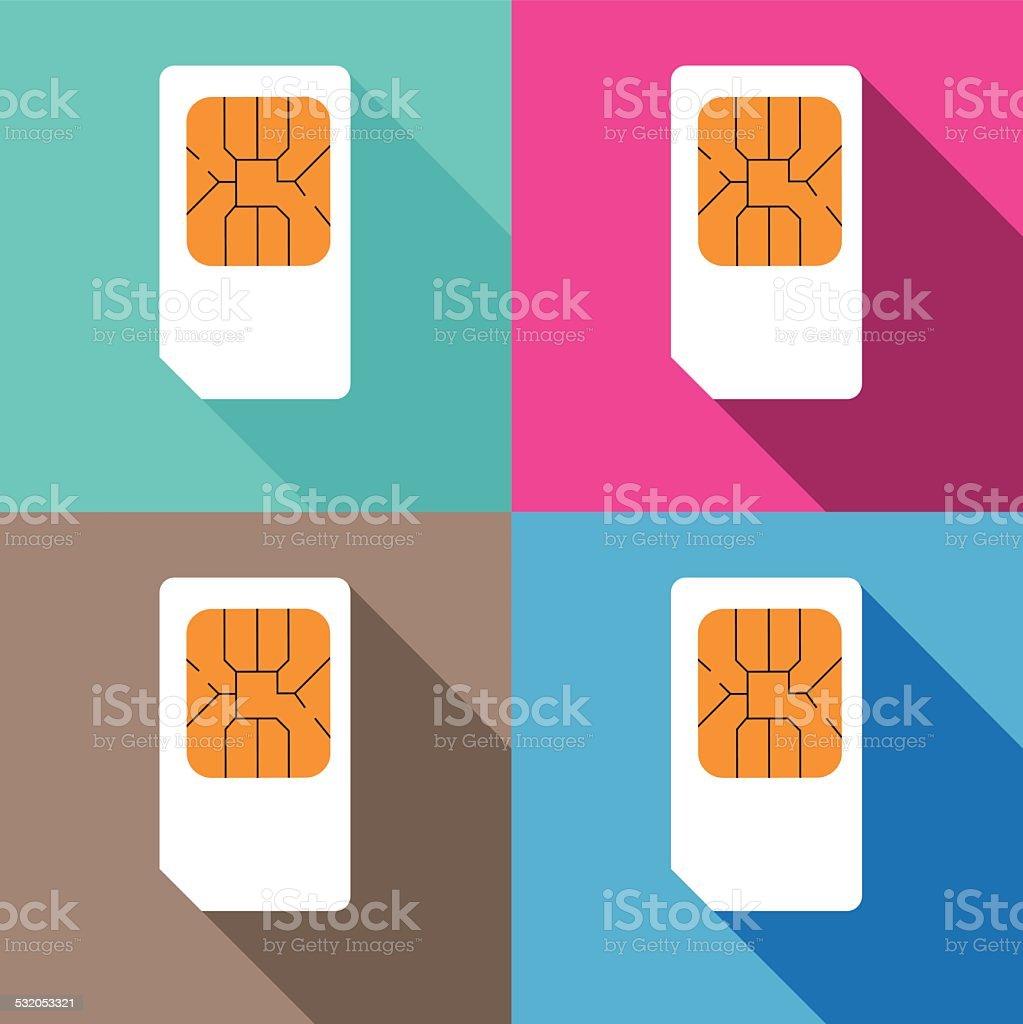 SIM Cards pattern vector art illustration