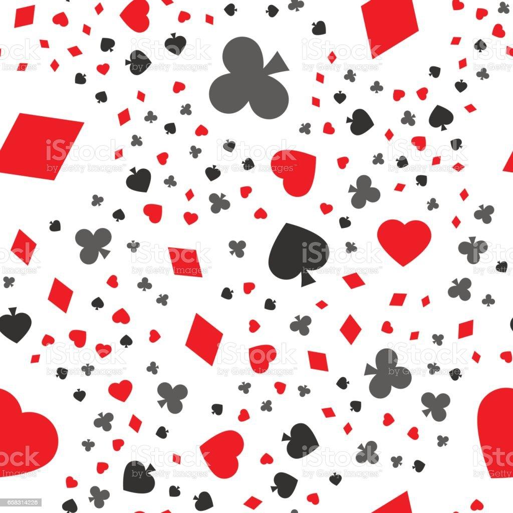 cards seamless pattern vector art illustration