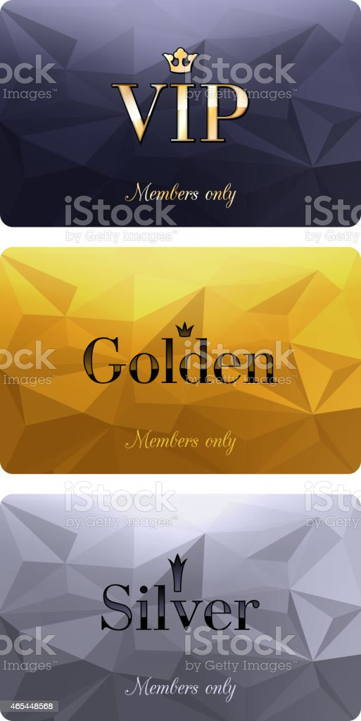 VIP cards with abstract background vector art illustration