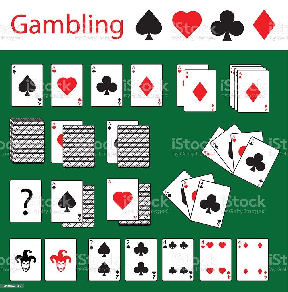 Cards,gambling,poker vector art illustration
