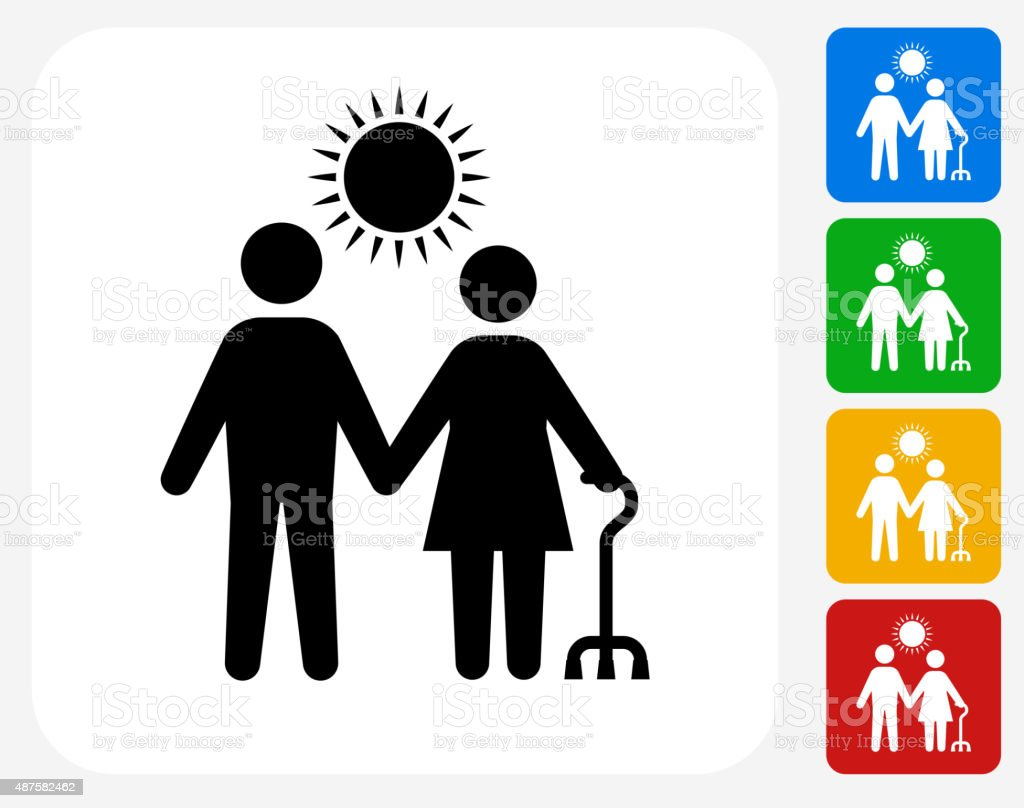 Care Giver Icon Flat Graphic Design vector art illustration