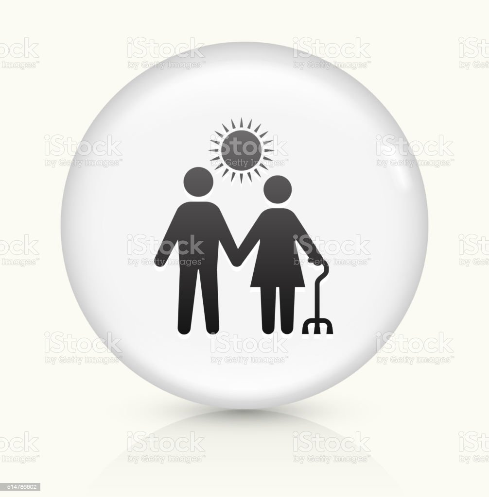 Care Giver icon on white round vector button vector art illustration