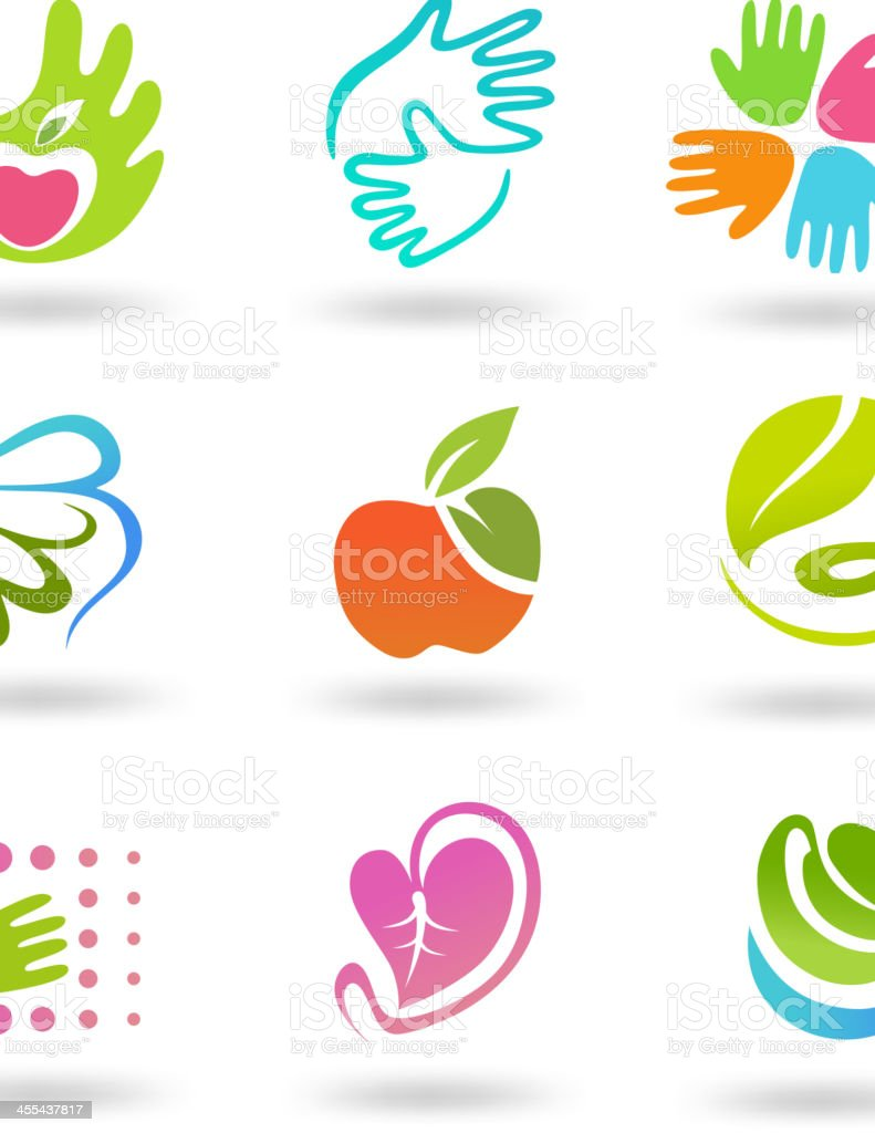 Care Icon set royalty-free stock vector art
