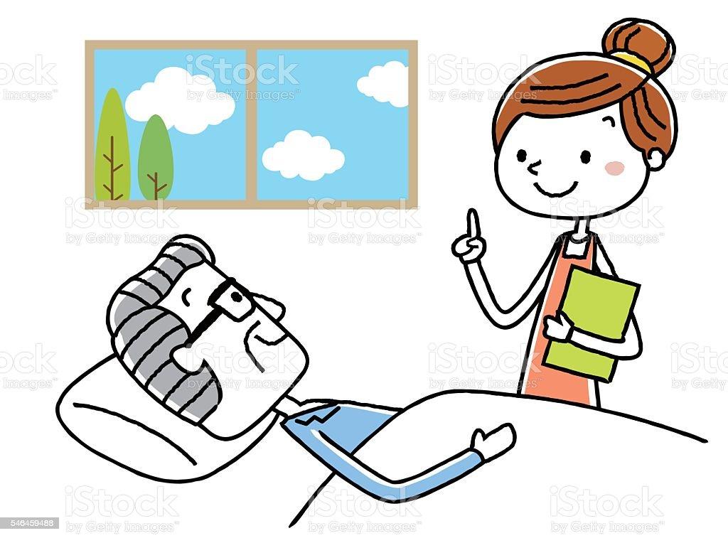 Care landscape vector art illustration