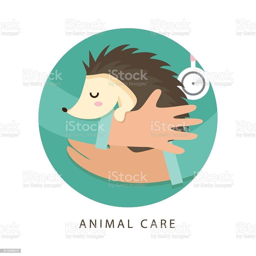 Care of animals. Design illustration. vector art illustration