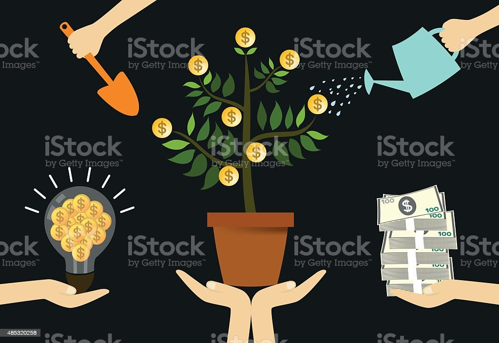 Care your funding vector art illustration