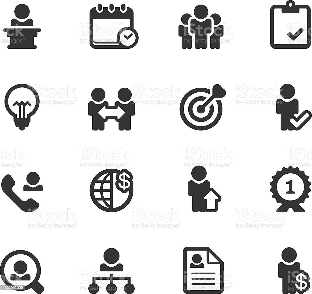 Career and Work Icons vector art illustration
